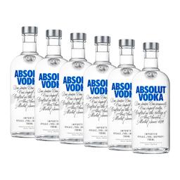 6 Un Vodka  Absolut  Azul  Botella 700 Ml