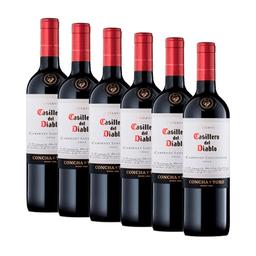 6 Un Vino Casillero Del Diablo Cabernet 750