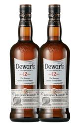 2 Un Whisky Dewar´S 12 Years 750 Ml