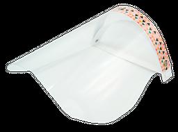 Careta de protección para bioseguridad diseño triangulos colores
