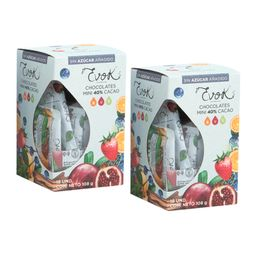 Kit Barras Minis Sin Azucar 40% Cacao