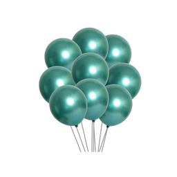 10 Globos latex metalizado color verde