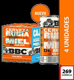 Cerveza BBC Cajica Miel - Lata 269ml x4