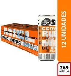 Cerveza BBC Cajica Miel - Lata 269ml x12