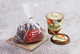 Combo Bolsa Recortes Brownie y Helado