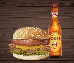Combo Chanchi Burger con Cerveza