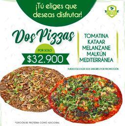Promo 2 Pizzas a Elección