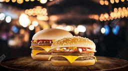 Triple Hamburguesa con Queso + McBacon