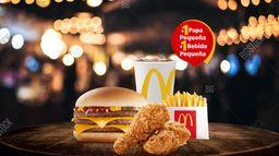 Mc Combo Triple Hamburguesa con Queso Mc Combo 2 piezas de pollo
