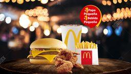 McCombo™ 4 Piezas de Ala + Doble Hamburguesa con Queso