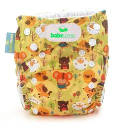 Eco pañal de tela reutilizable estampado bosque +  absorbente