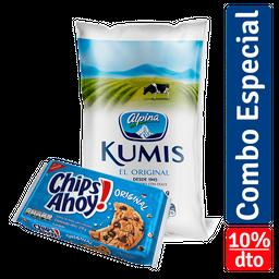 Rappicombo Kumis Alpina + Galleta Chips Ahoycc