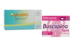 Yasminiq Bayer+Buscapina Fem 6 Tabletas 20 Mg 400 Mg