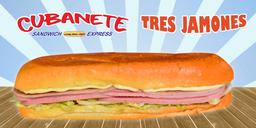 Cubanete Tres Jamones Grande