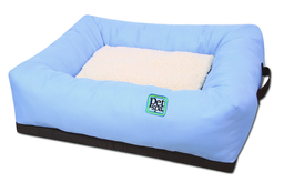 Cama Sofa para Perros y Gatos Oxford Azul 14SF001A PS 64 CM
