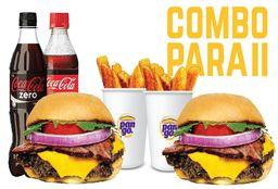 2 Combos Burger Cheese&Bacon