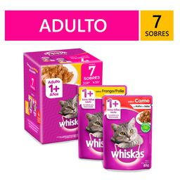 Whiskas Pack Adulto 7 Sobres