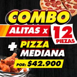 Combo Alitas y Pizza Mediana