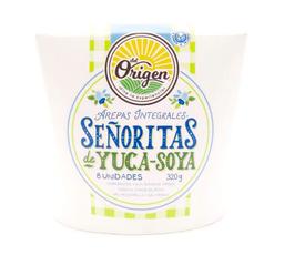 Arepas Integrales a Base de Yuca y Soya Del Origen 8 U