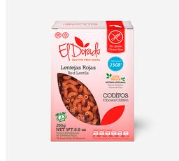 Pasta El Dorado Coditos de Lentejas Rojas 250 g