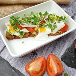 Tostada de Jamón y Huevo