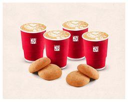 Combo Cappuccinos y Almojabanas x4