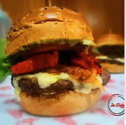 Burger Angus Costilla con papas