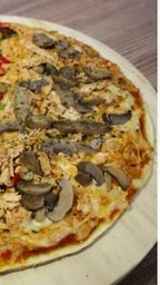 Pizza small pollo con champiñones