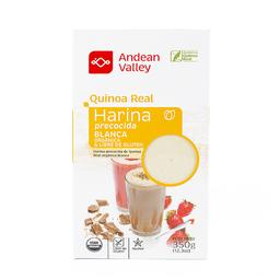 Andean Valley Harina precocida Quinoa Real Blanca.
