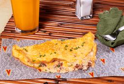 Omelette con Tocineta y Maíz
