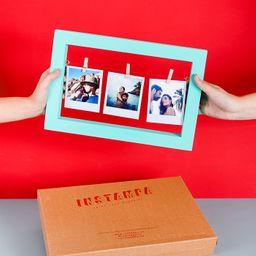 Cuadro grande de 3 fotos (incluye la impresión de tus fotos)