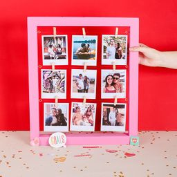 Cuadro grande de 9 fotos (incluye la impresión de tus fotos)