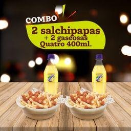 Combo envío gratis Quatro Salchipapa X2