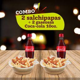 Combo envío gratis Coca Cola Salchipapa X2