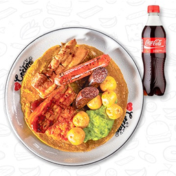 Patacón Berraco con Coca-Cola