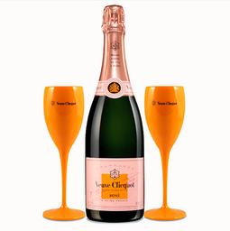Veuve Clicquot Rose 750 mL Gratis + 2 Copas de Vidrio