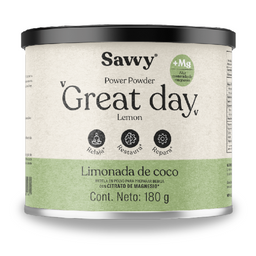 Savvy Mezcla en Polvo Great Day Limonada Coco