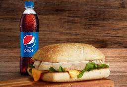 Sandwich Pollo y Queso + Nectar Oma o Postobon pet 400ml