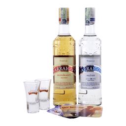 Arraigo Tequila + Arraigo Tequila Silver + Copas + Portavasos
