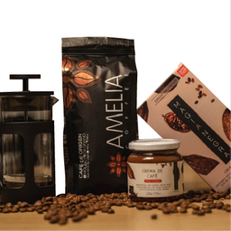 Café Amelia + Barra de Cacao + Crema de Café Untable