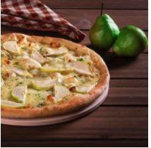pizza de pera y queso azul