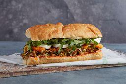 Sándwich mozzarella de búfala