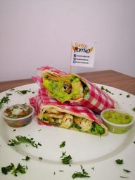 Wrap de Pollo y Limonada natural