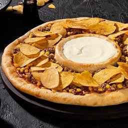 Pizza Vulcano Queso Crema y Platanitos