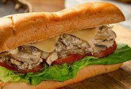 Sándwich Pollo, Queso y Champiñones