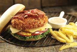 Combo Hamburguesa de Pollo Apanada