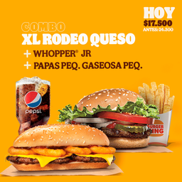 Combo XL rodeo y Combo Whopper JR