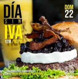 Domingo sin IVA Burger