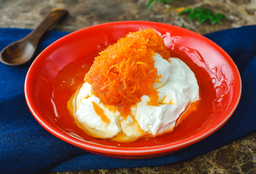 Yogurt con almíbar zanahoria
