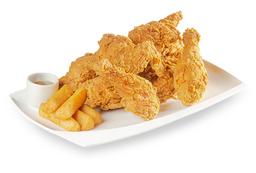 Pollo Apanado y Yuca